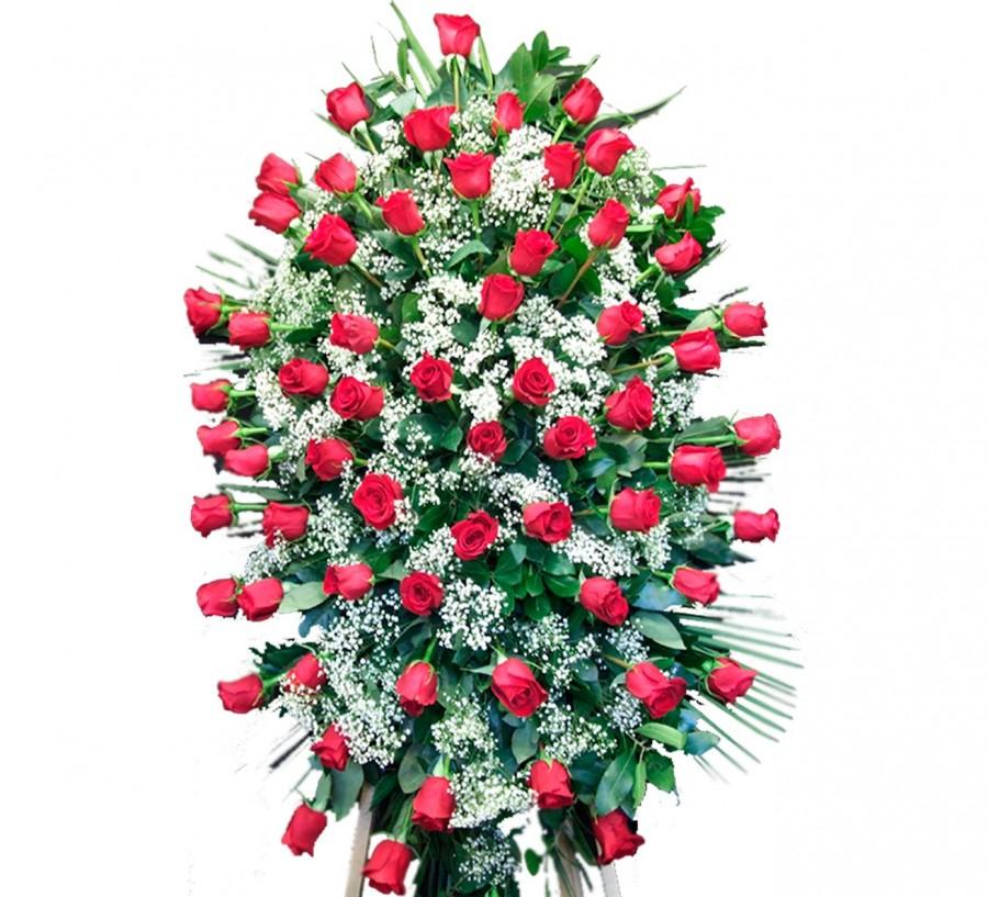 Palma de rosas y lilium blanco