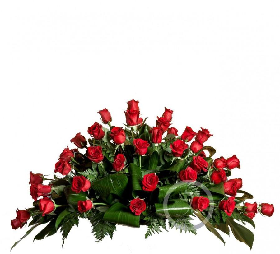 Almohadón Funerario de Rosas Rojas