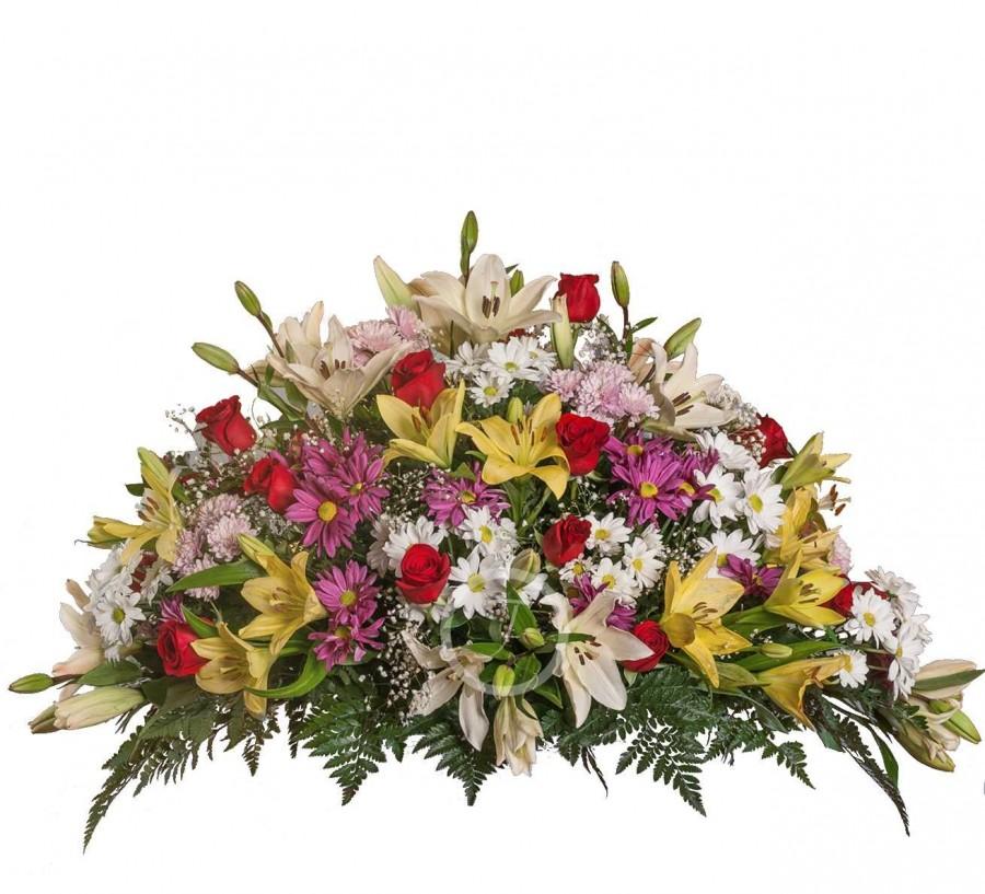 Almohadón Funerario de Flores Silvestres