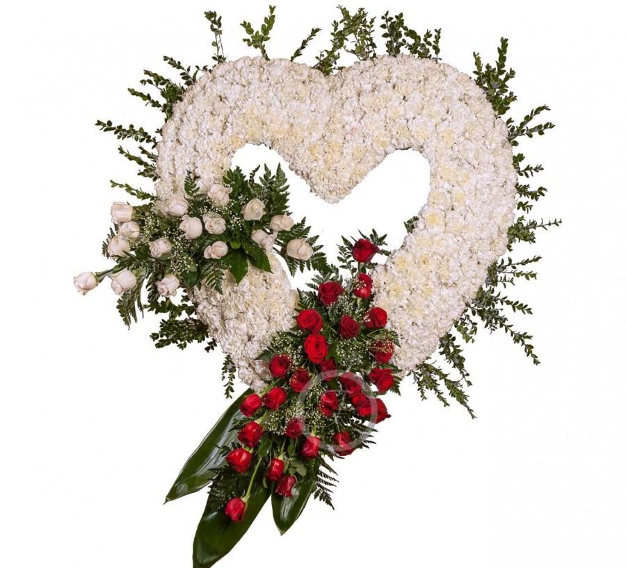 Corona Funeraria Corazón Blanco