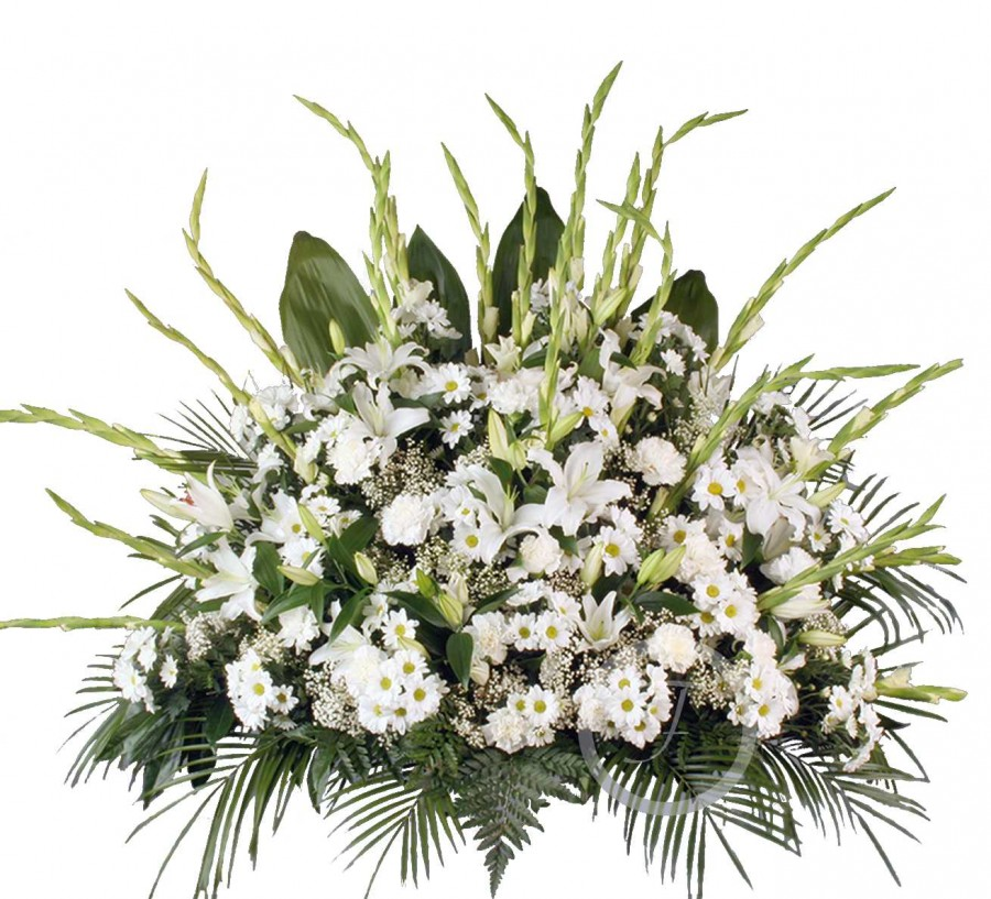 Centro Floral Funerario Blanco