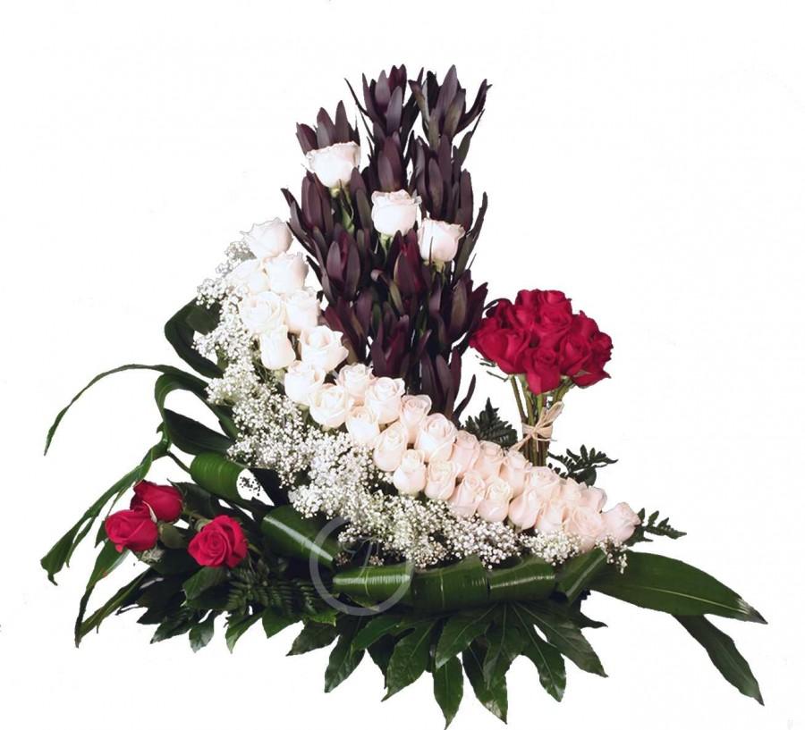 Centro Floral Fúnebre con Rosas Rojas...