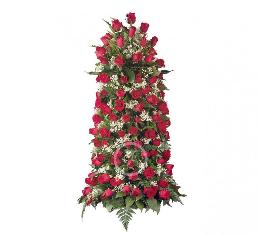 Columna Funeraria de Rosas Rojas