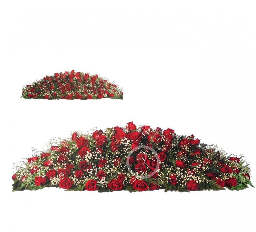 Cubre Féretros de Rosas Rojas