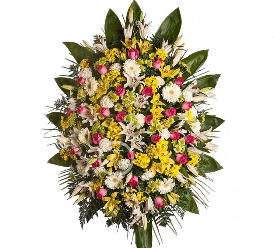 Palma Funeraria con Flores Silvestres