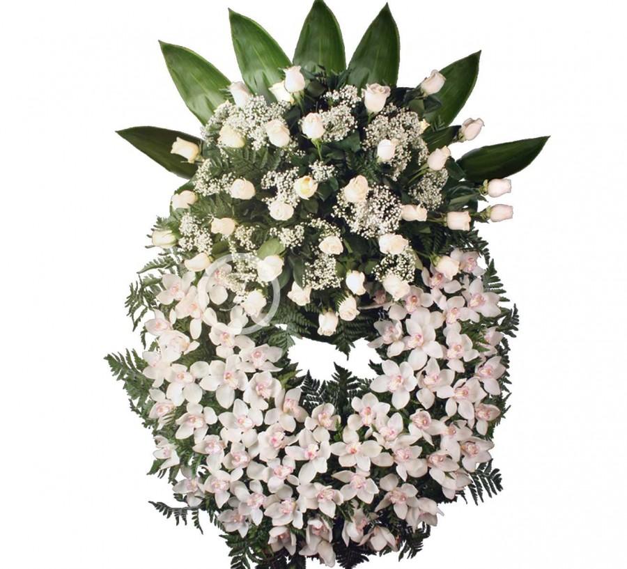 Corona Funeraria de Orquídeas