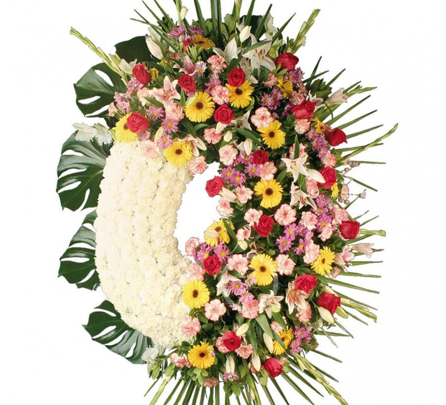 Corona Funeraria de Flores Variadas