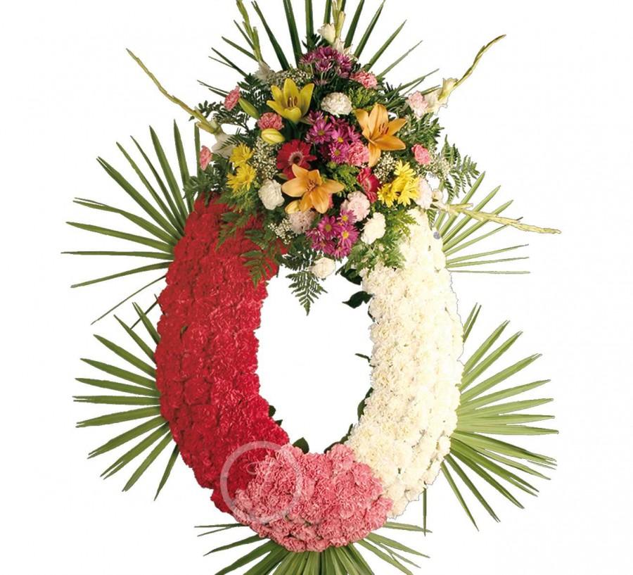 Corona Funeraria de Claveles Variados