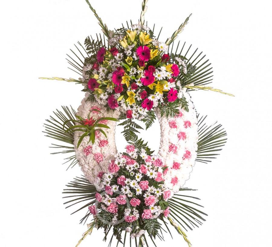 Corona Funeraria con Claveles