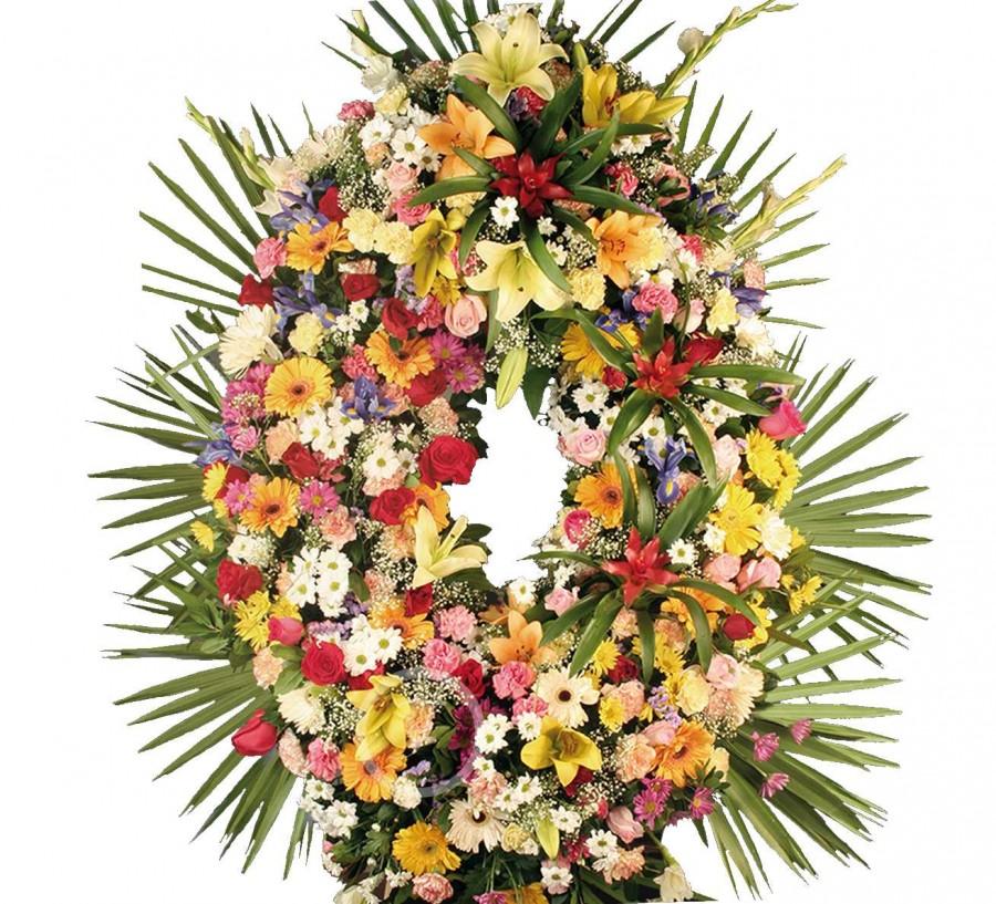 Corona Funeraria Silvestre con Guzmania