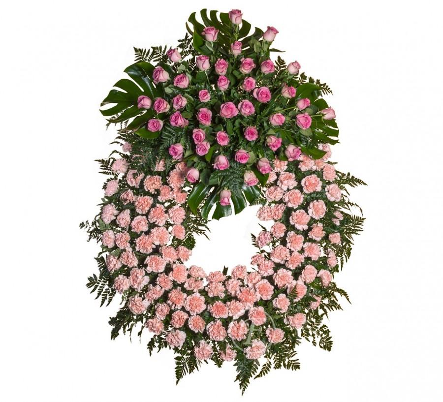 Corona Funeraria  Rosa