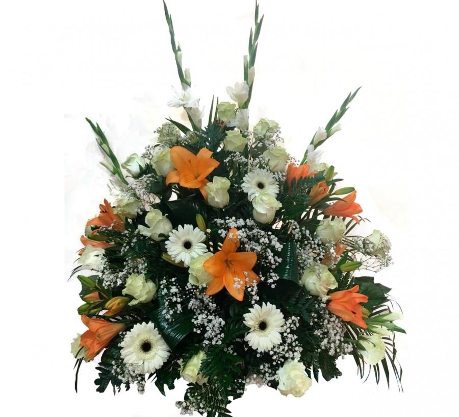 Centro Floral Fúnebre de Flores Variadas