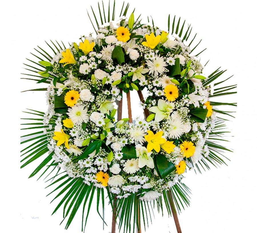 Corona de flores variadas Blanca
